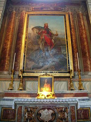 Rex Perpetuus Norvegiae - Image: San Carlo Corso S Olav 01 Ste O153