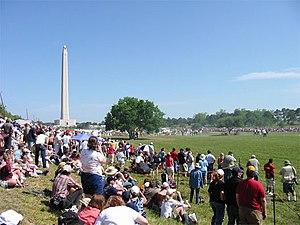 San Jacinto Day - Spectators watch the battle reenactment at the 2006 festival