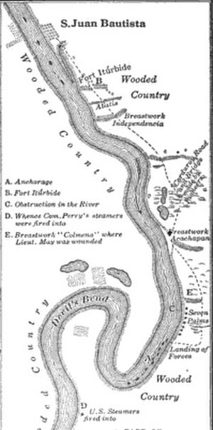 Second Battle of Tabasco - Image: San Juan Bautista river events