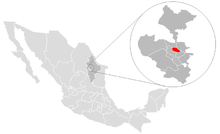 Location o San Nicolás de los Garza in northren Mexico