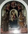 San casciano, chiesa di s. francesco, interno 04 Madonna con il Bambino tra la Maddalena e San Francesco, Biagio di Antonio Tucci.JPG