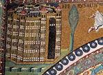 San vitale, ravenna, int., presbiterio, mosaici dell'arcone 03 gerusalemme celeste 2.jpg