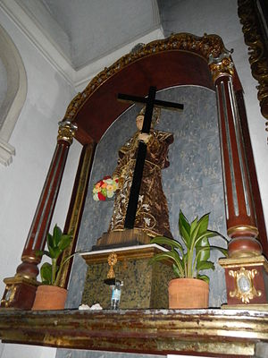 Didacus of Alcalá - Side altar and Icon of San Diego de Alcala in San Diego de Alcala Church, Philippines (dedicated to this Saint.)