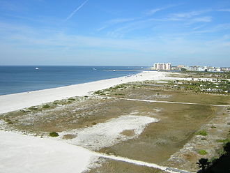 Clearwater, Florida - View north from Sand Key toward Clearwater Beach