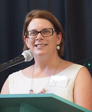 Department of Environment, Water and Natural Resources (South Australia) - DEWNR CEO Sandy Pitcher presiding at the CCSA's 2015 Awards Night, 17 December 2015.
