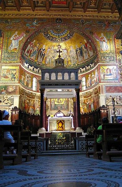 Ábside de Santa María en Trastevere. Fuente: Wikipedia