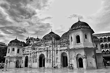 Sat Masjid is located in the Mohammadpur area of Dhaka city, the building exhibits seven domes- three over the prayer chamber and four over the corner towers. Hence it is known as Sat Gombuz (seven domed) Mosque. 02.jpg
