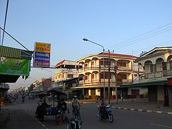 The commercial centre of Kaysone Phomvihane, Savannakhet Province