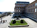 Savoyai terrace from Habsburg Gate, 2013 Budapest (179) (13228941513).jpg
