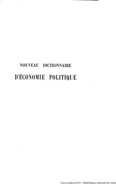 File:Say - Chailley - Nouveau dictionnaire d'économie politique, tome 2.djvu