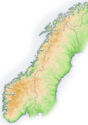 Carte des Alpes scandinaves.