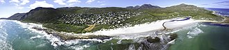 Scarborough, Cape Town - An aerial view of Scarborough from the ocean.