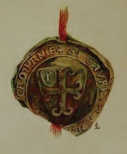 Sceau de Geoffroy de Villehardouin, Maréchal de Champagne (Louis Le Clerc).png