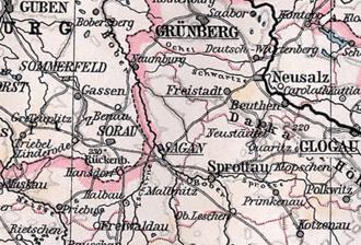 Duchy of Żagań - Prussian Sagan district 1816-1932