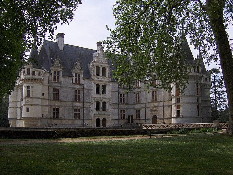 The château de Azay-le-Rideau, eastern aspect