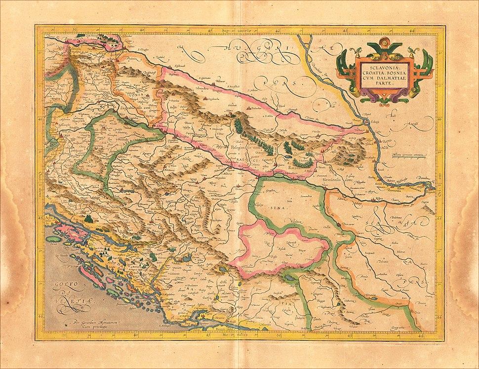 Sclavonia Croatia Bosnia Dalmatia 1609