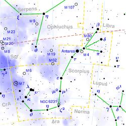 Recomendação de alvos para binóculos 250px-Scorpius_constellation_map