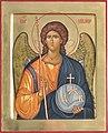 Seattle - St. Paul's Episcopal - icon of the Archangel Michael (26003181933).jpg