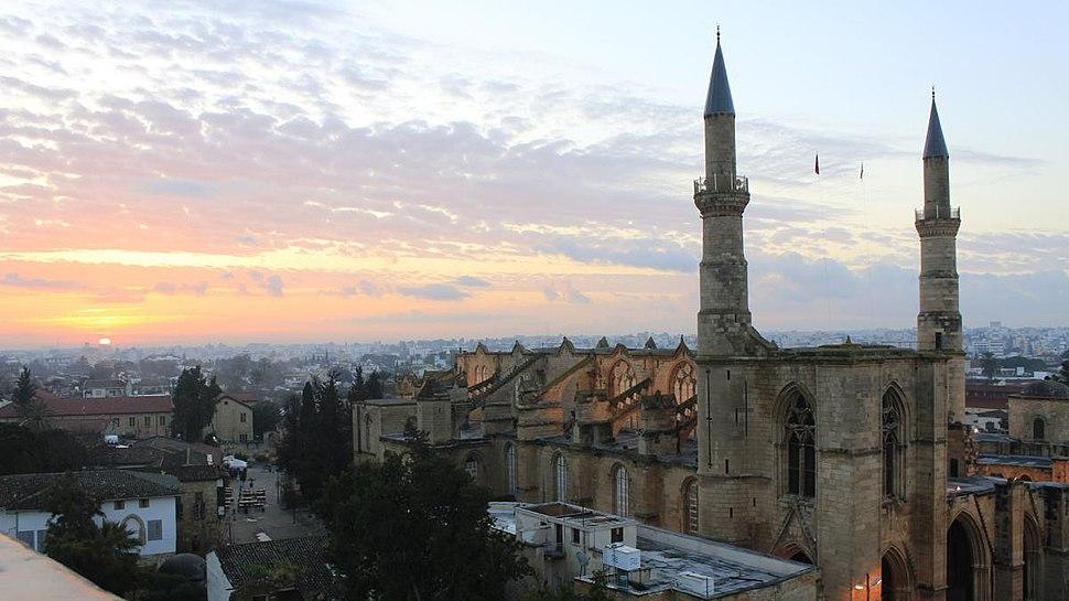 Selimiye Mosque, Nicosia at dawn