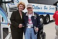 Senator Stabenow greets World War II veteran who came to Washington on an Honor Flight from the UP. (14052121689).jpg