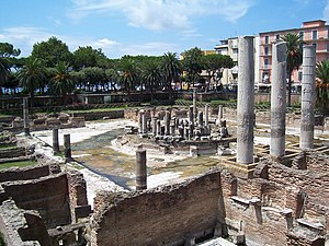 Pozzuoli - The ancient Macellum of Pozzuoli was a market building, erroneously identified as a Serapeum when a statue of Serapis was discovered.