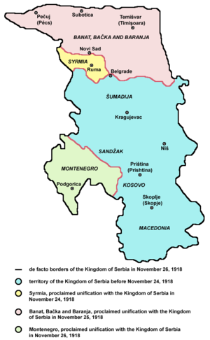 Map of the Banat, Bačka and Baranja and Srem w...