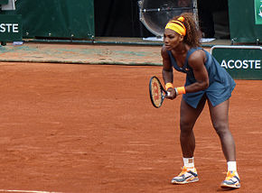 Serena Williams nel vittorioso Roland Garros 2013