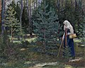 Sergey Vinogradov - Gathering Mushrooms in the Forest.jpg