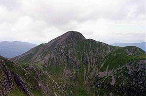 Sgùrr Fhuaran - Sgùrr Fhuaran seen from Sgùrr na Ciste Duibhe across Coire Domhain.