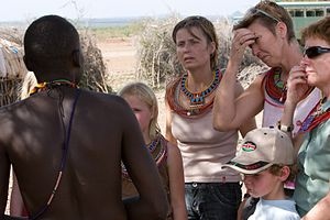 Shaba National Reserve - Tourists with guide