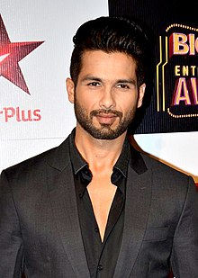 An upper body shot of Shahid Kapoor, as he poses for the camera