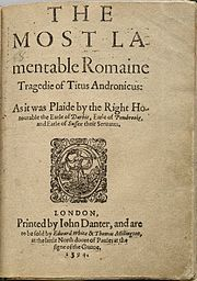 Shakespeare's Titus Andronicus, first edition