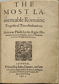 Chronology Of Shakespeare S Plays Wikipedia