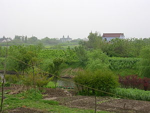 Shanlian - Image: Shanlian East side of town looking south