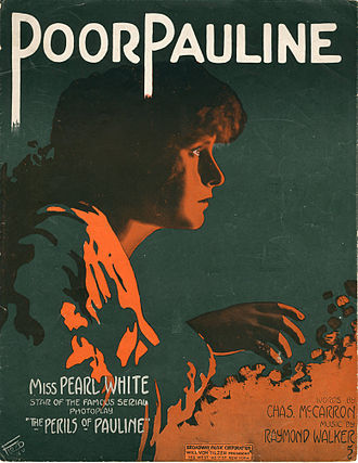 The Perils of Pauline (1914 serial) - Sheet music cover for a song inspired by the serial