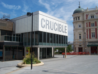 Crucible Theatre - The main entrance to the Crucible Theatre in 2010