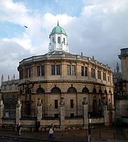 The Sheldonian Theatre, built by Sir Christopher Wren between 1664-1668, hosts the University's Congregation, as well as concerts and degree ceremonies