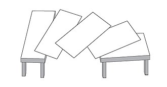 "Optical illusion - ""Shepard's tables"" deconstructed. The two tabletops appear to be different, but they are the same size and shape."