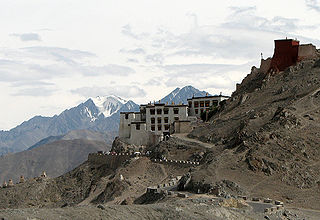 Shey Monastery building in India