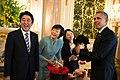 Shinzo Abe with Barack Obama laughing, April 2014.jpg