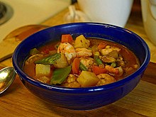 A Broth Style Seafood Chowder Prepared With Shrimp