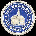 Siegelmarke Der Magistrat der Stadt Mlawa W0211839.jpg