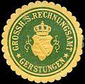 Siegelmarke Grossherzoglich Sächsisches Rechnungsamt - Gerstungen W0255928.jpg