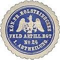 Siegelmarke Holsteinsches Feld-Artillerie-Regiment No. 24 freigestellt.jpg