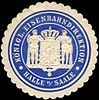 Siegelmarke Königliche Eisenbahndirektion - Halle an der Saale W0212680.jpg