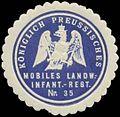 Siegelmarke K.Pr. Mobiles Landwehr Infanterieregiment Nr. 35 W0348278.jpg
