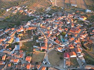 La Jara (comarca) - Aerial view of Mohedas de la Jara
