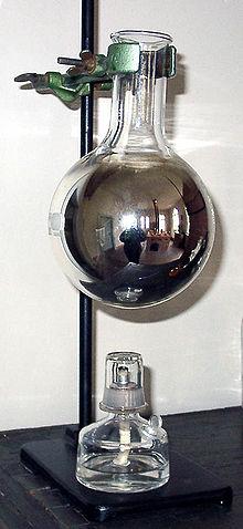 Kolben mit Silberspiegel (Quelle: Wikimedia)
