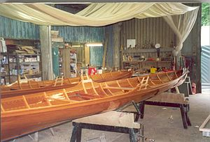 Thames skiff - Newly built single racing skiffs