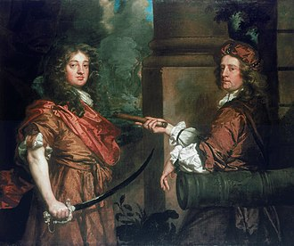 Robert Holmes (Royal Navy officer) - Sir Frescheville Holles and Sir Robert Holmes, painted by Peter Lely
